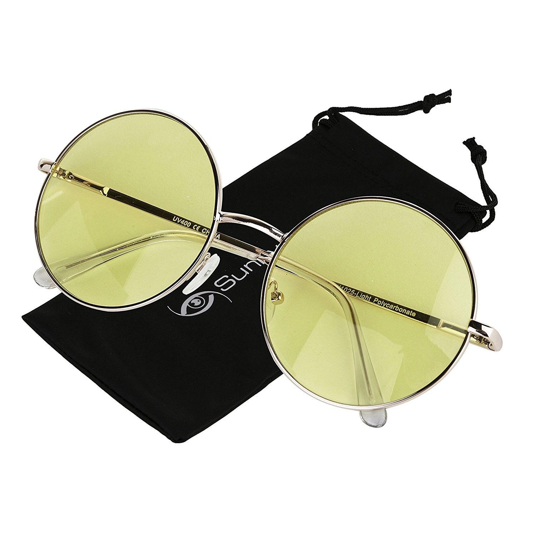 12b723eef Women's Sunglasses, Oval, Round Sunglasses Retro Circle Tinted Lens Glasses  UV400 Protection - CE180TSMKH0 #womenssunglasses #sunglasses #oval ...