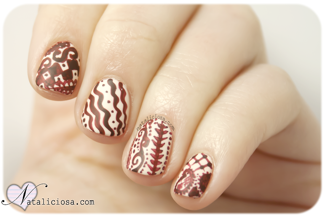 unas uñas pintadas estilo indio de la India Nataliciosa.com | Uñas ...