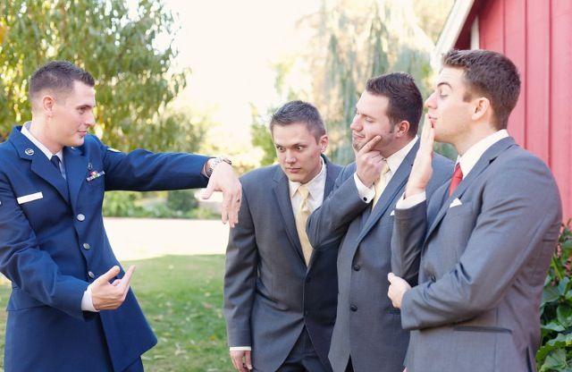 Groomsmen  Air Force Wedding  I just love the dress blues