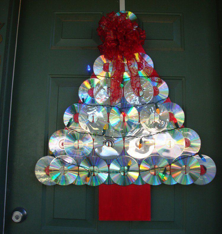 décoration Noël pour la porte du0027entrée  sapin fait main à partir de - decoration pour porte d interieur