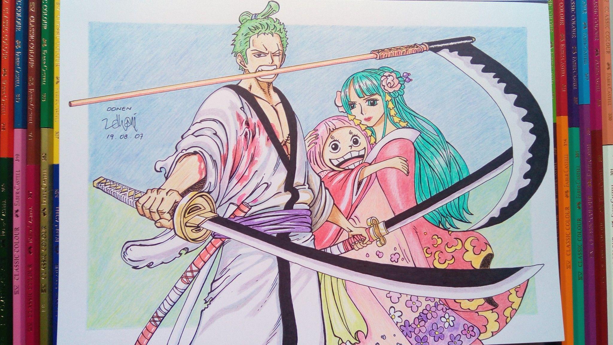 Zoro & Hiyori | Zoro, One piece fanart, Anime fanart