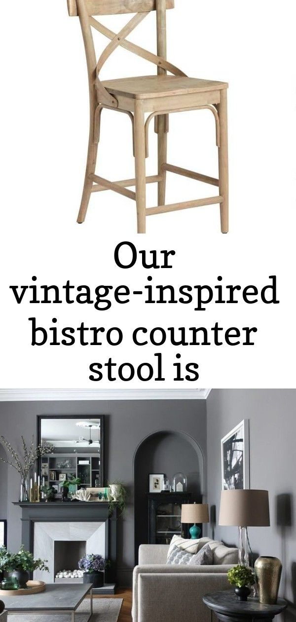 Our vintage-inspired bistro counter stool is reminiscent of one you'd find in a parisian patisserie. #swisscoffeebenjaminmoore
