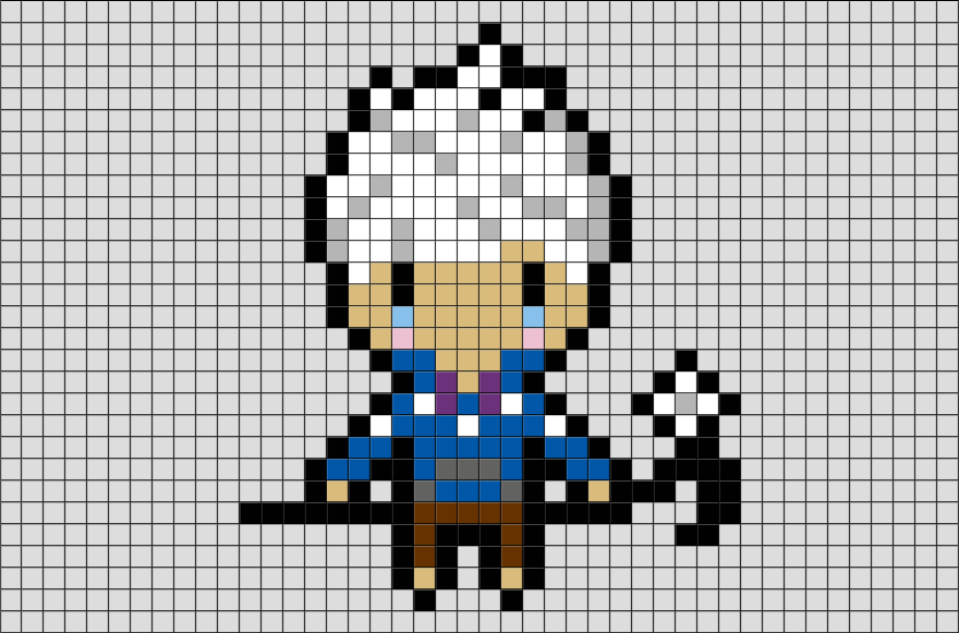 Jack Frost Pixel Art from BrikBook.com #JackFrost #FictionalCharacter #snow #Frozen #winter #pixel #pixelart #8bit Shop more designs at http://www.brikbook.com