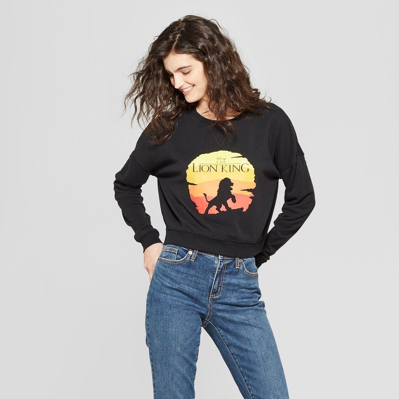 Women S Disney The Lion King Graphic Sweatshirt Affiliate Thelionking Tshirt Target Targetstyle Black Cropped Sweater Graphic Sweatshirt Sweatshirts [ 1400 x 1400 Pixel ]