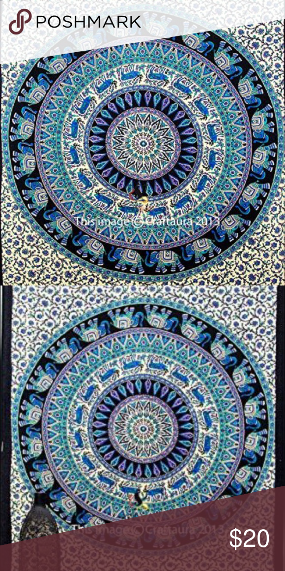 Blue mandala tapestry Similar to urban outfitters dupe twin size Other