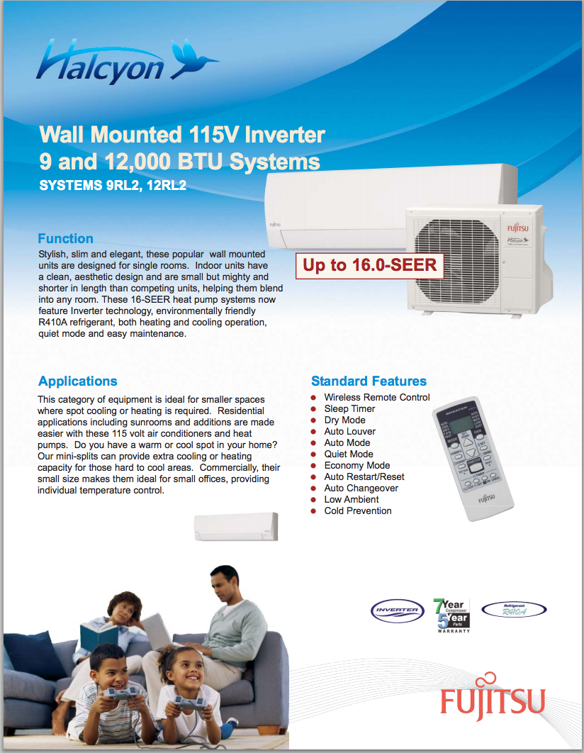 Specialized in Minisplits Air Conditioning Ductless