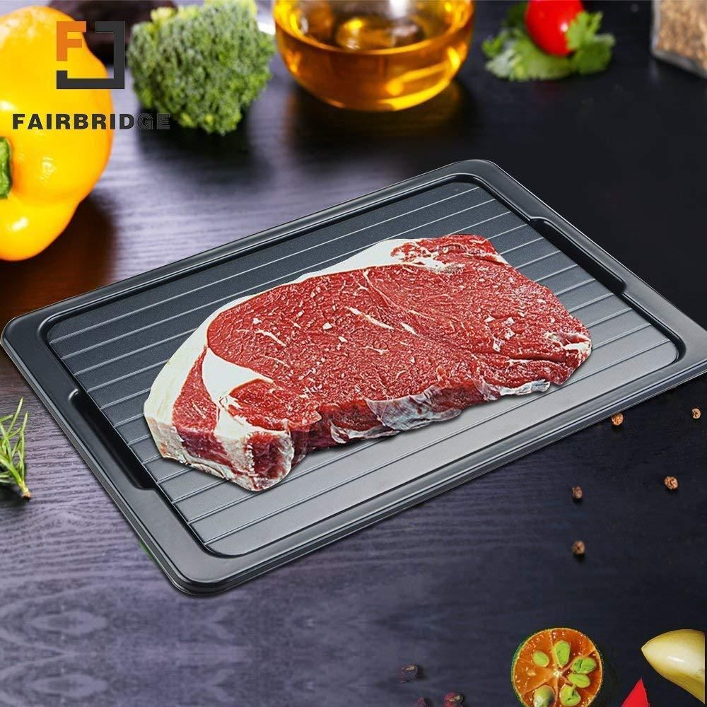 Fast Thawing Defrost Plate Metal Tray The Safest Way Meat Or Frozen Food Quickly Unbranded Frozen Food Food Frozen Meat