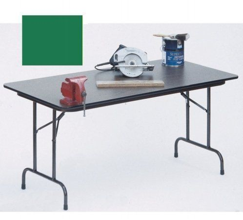 High Pressure Tables Top Folding Tables Fixed Height Green By Correll 138 08 The Most Popular Table Fo Folding Table Wood Folding Table Particle Board