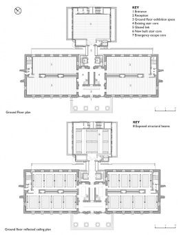 Saatchi Gallery Ground floor plan and reflected ceiling plan ...