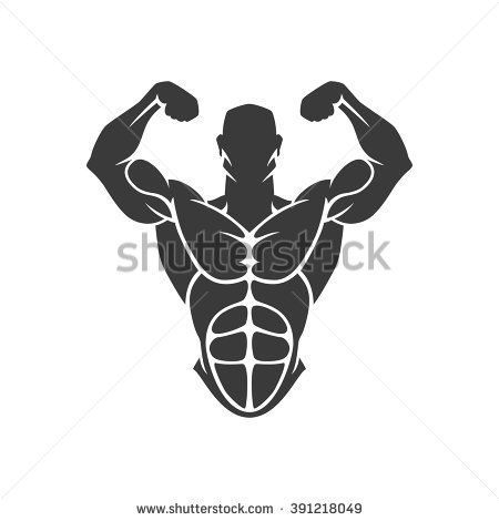 Bodybuilder Logo Template Vector Object And Icons For Sport Label Gym Badge Fitness