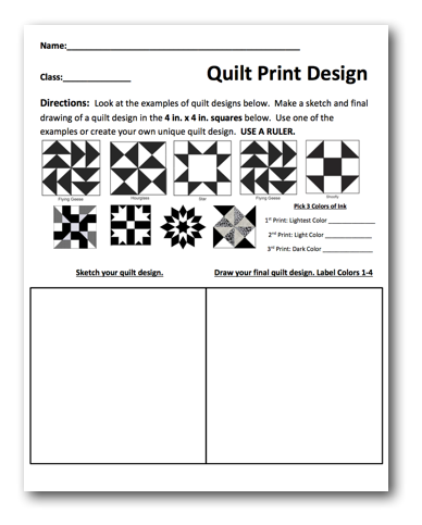 Quilt Prints Free Lesson Plan Download Art Lessons Middle