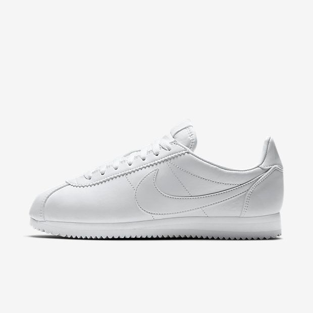 all white nike training shoes nike leather shoes