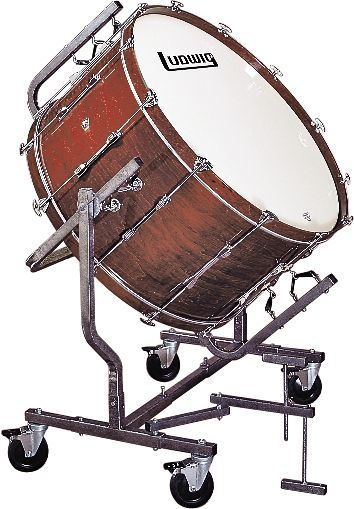 (Limited Supply) Click Image Above: Ludwig Concert Bass Drum Mounted For Le788 Stand 16x36 Mahagony
