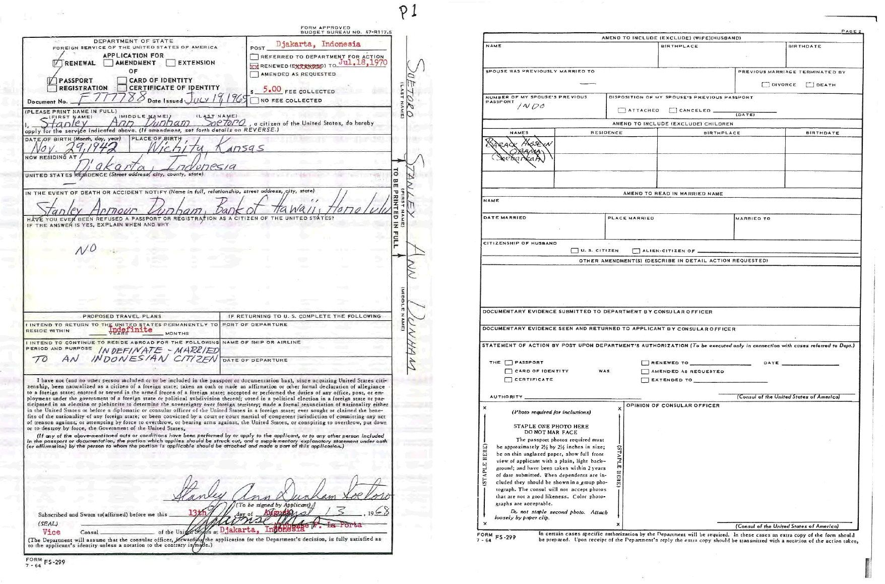 Lujo Barack Obama Certificado De Nacimiento Imagen Elaboración ...