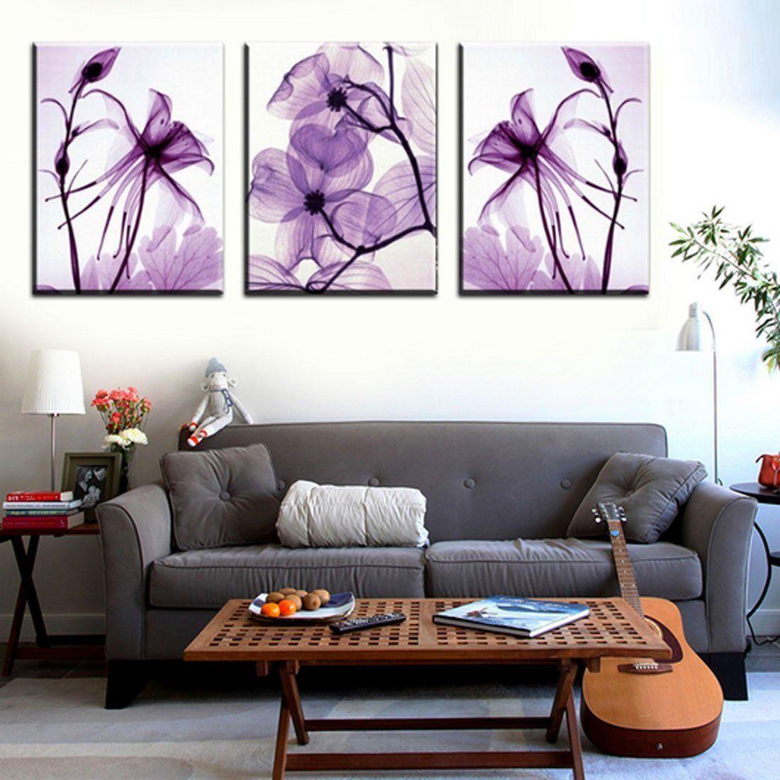 Hot sell 3 panels 40 x 60 cm modern wall