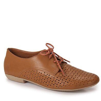 59b9acff6 Sapato Oxford Feminina Bottero - Caramelo