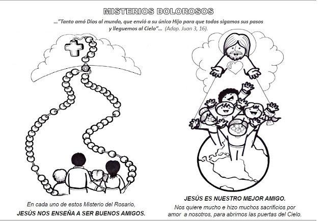 La Catequesis: Recursos Catequesis Santo Rosario para Colorear ...