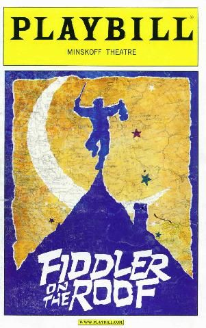 Fiddler on the Roof B'way Broadway, Broadway playbills