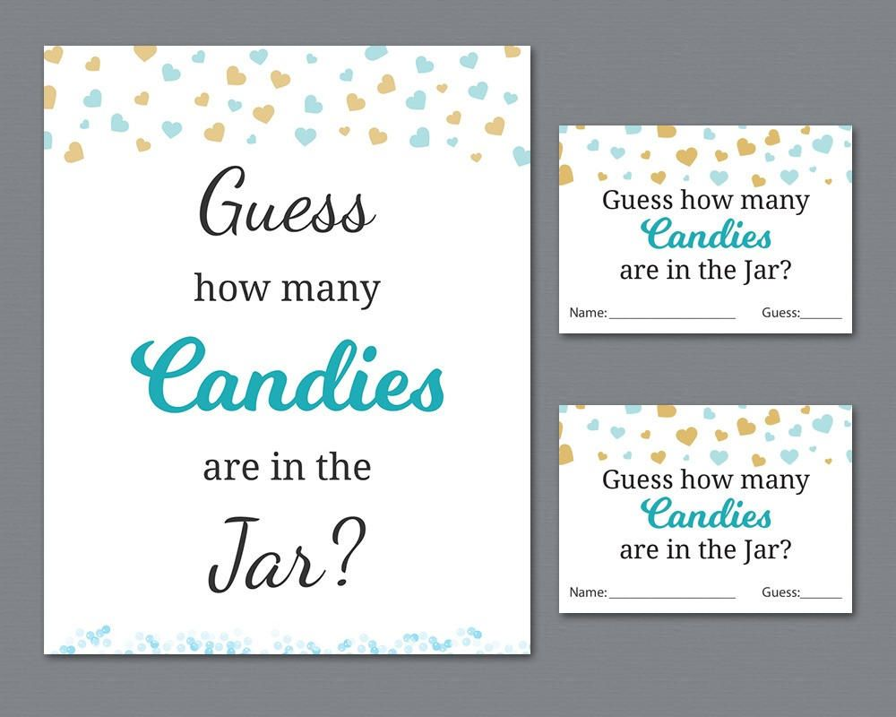 Candy Guessing Game Boy Baby Shower Games Printable Hearts Confetti Guess How Many Candies In A Jar Candies In Bottle Activities B002 Candy Guessing Game Printable Baby Shower Games Boy Baby