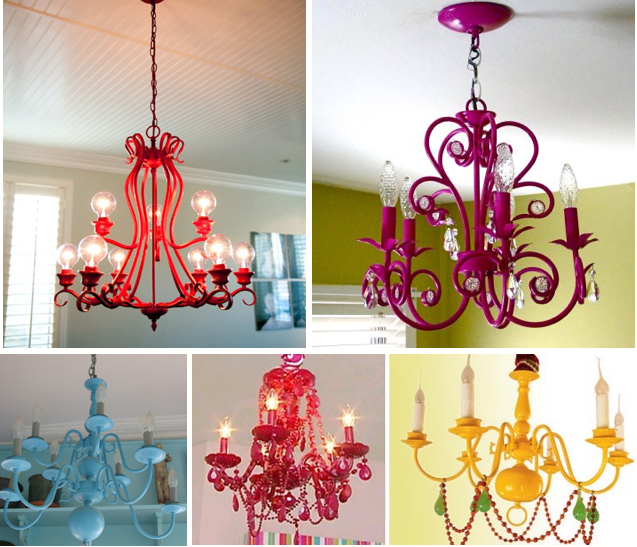 After my last post I found that people LOVE budget decorati ng – Paint a Chandelier