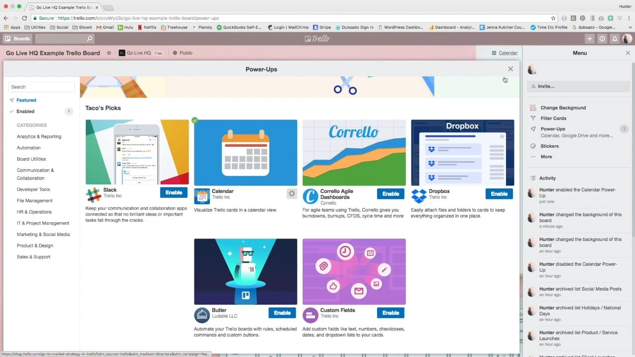 How To Use Trello To Create A Content Calendar Social Media List