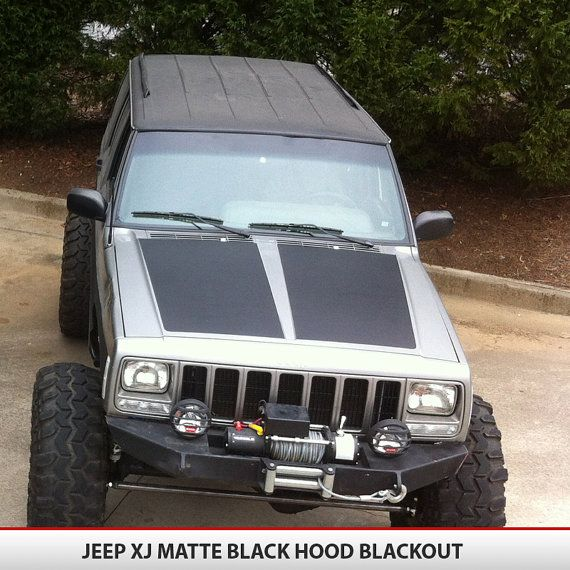 Jeep Cherokee XJ Hood Blackout Decal This Decal Not Only - Jeep hood decalsmatte black jeep hood decal