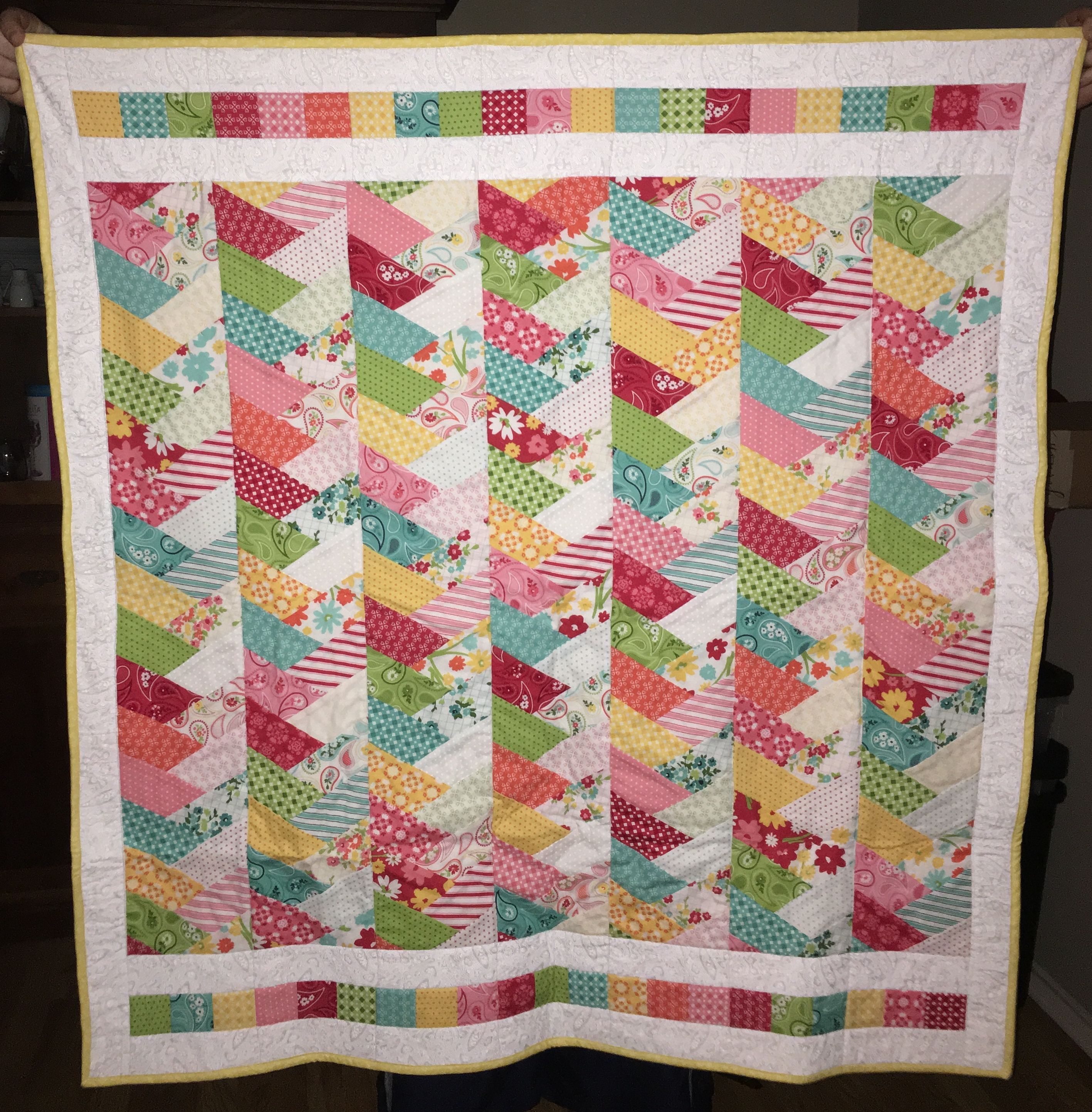 Friendship Braid Quilt Baby Blanket Made From Mamas Cottage