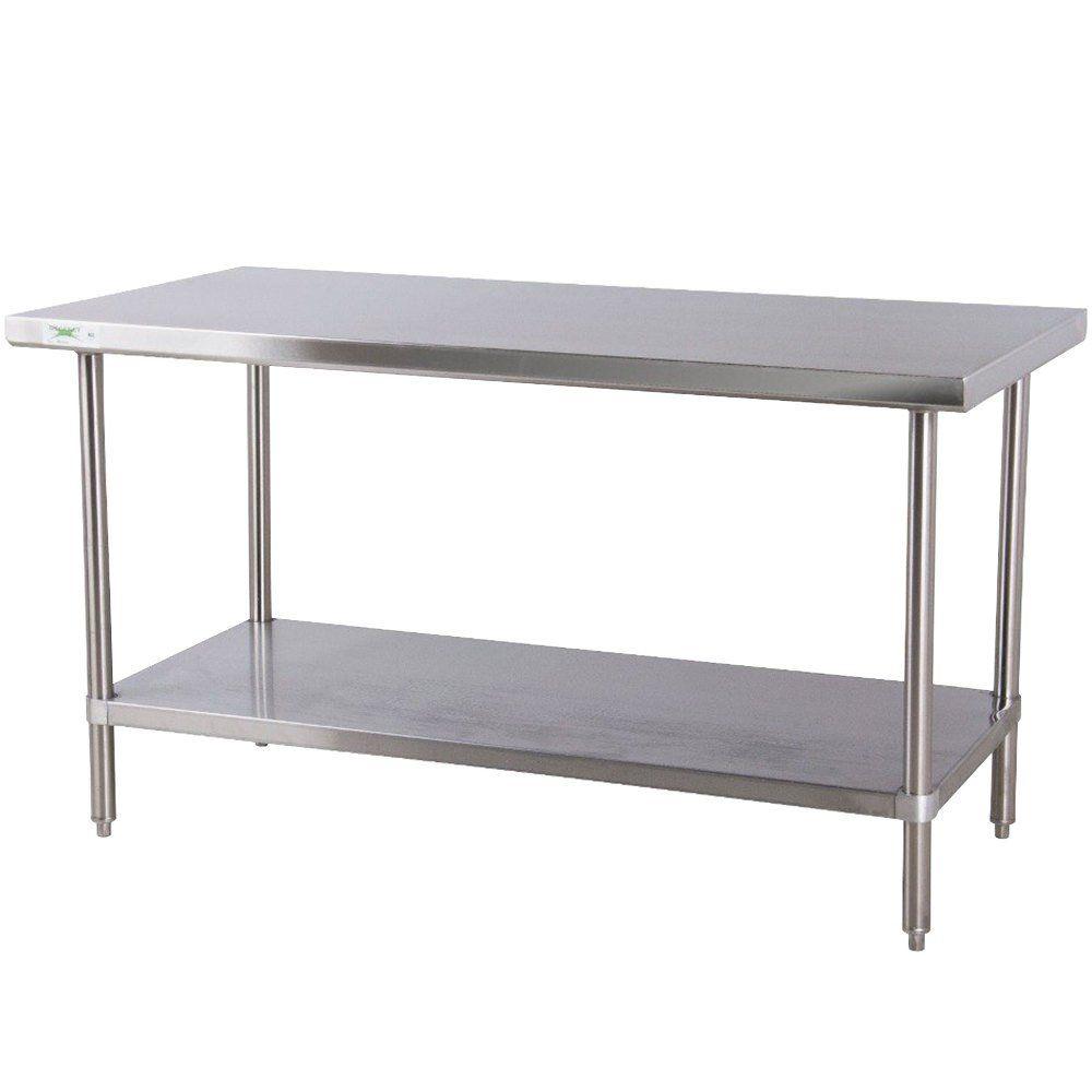 Regency 24 X 60 16 Gauge 304 Stainless Steel Commercial Work Table With Undershelf Stainless Steel Work Table Kitchen Work Tables Stainless Steel Kitchen Table