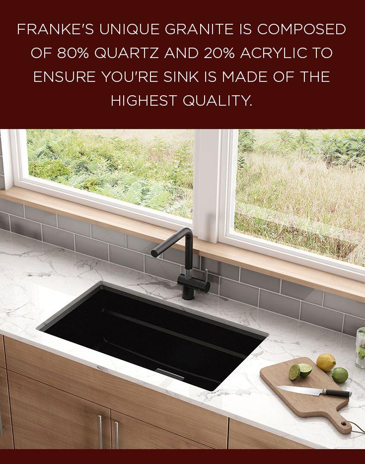 Franke\'s unique granite is composed of 80% quartz and 20% acrylic ...