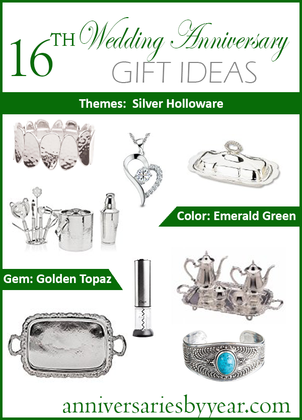 16th Anniversary Gift Ideas  16th Anniversary Gift Ideas