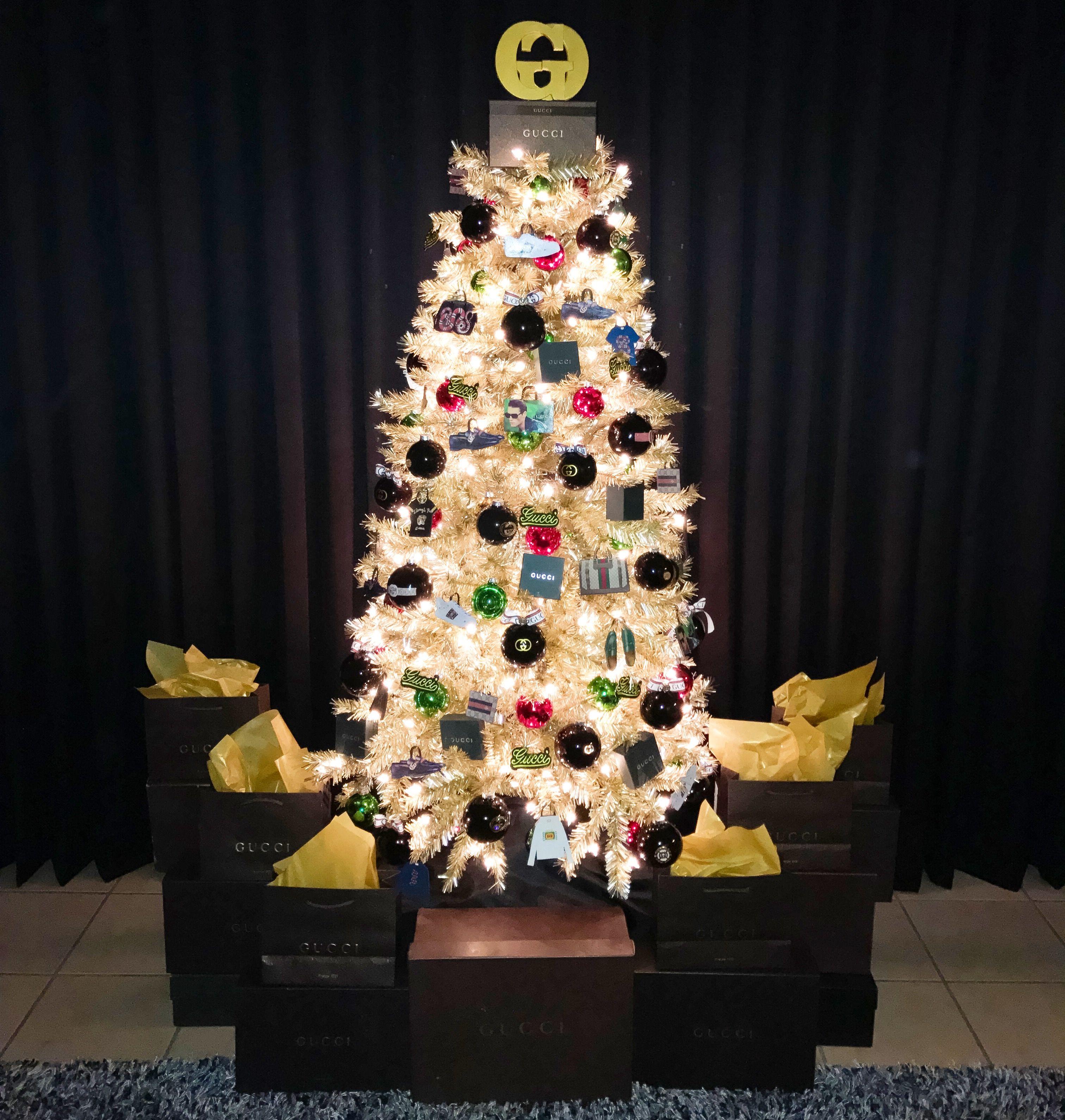 Mccoys Christmas Trees: Gucci Christmas Tree. Designer Luxury Christmas I Created