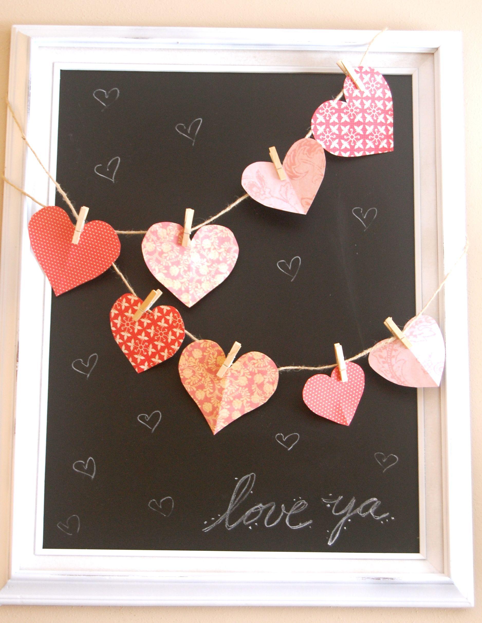Very Simple Decor Idea To Bri G The Heart Inside I Like Hanging