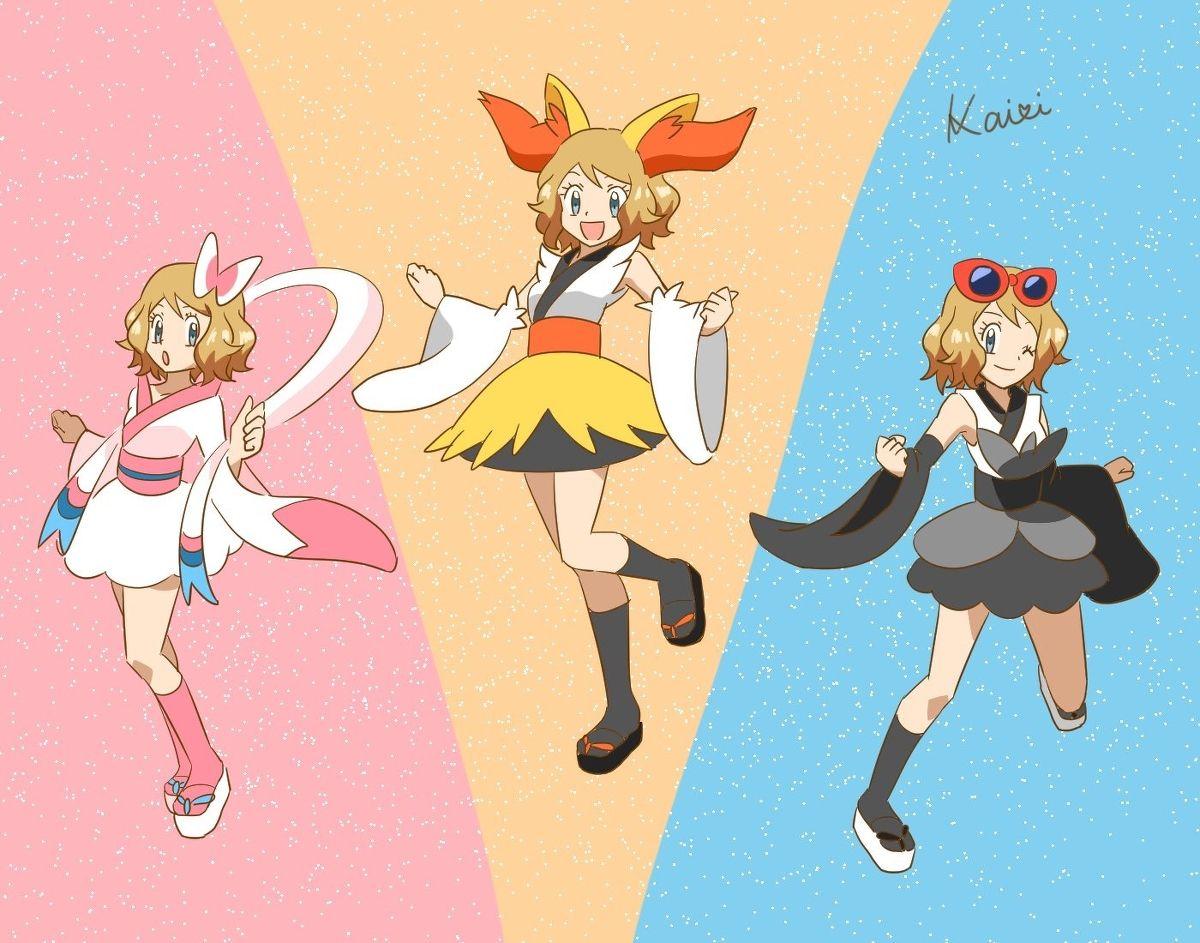 Pokemon Xy Xyz Anime Serena Kalos Queen Serena