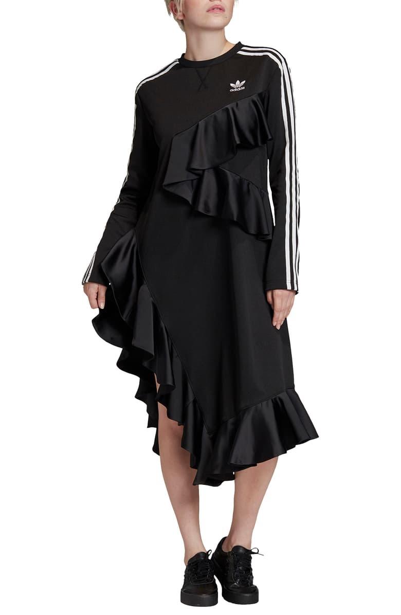 Adidas Originals Asymmetrical Ruffles Long Sleeve Dress Nordstrom Ruffle Long Sleeve Dress Long Sleeve Dress Nordstrom Dresses [ 1196 x 780 Pixel ]