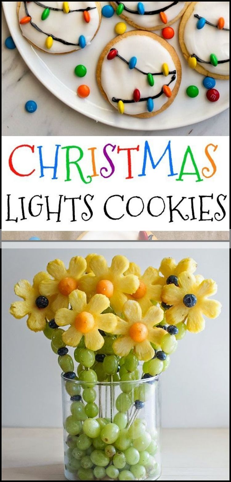 Christmas Lights Cookies for Santa! Easy royal icing recipe and mini M & M's look l .... #easyroyalicingrecipe