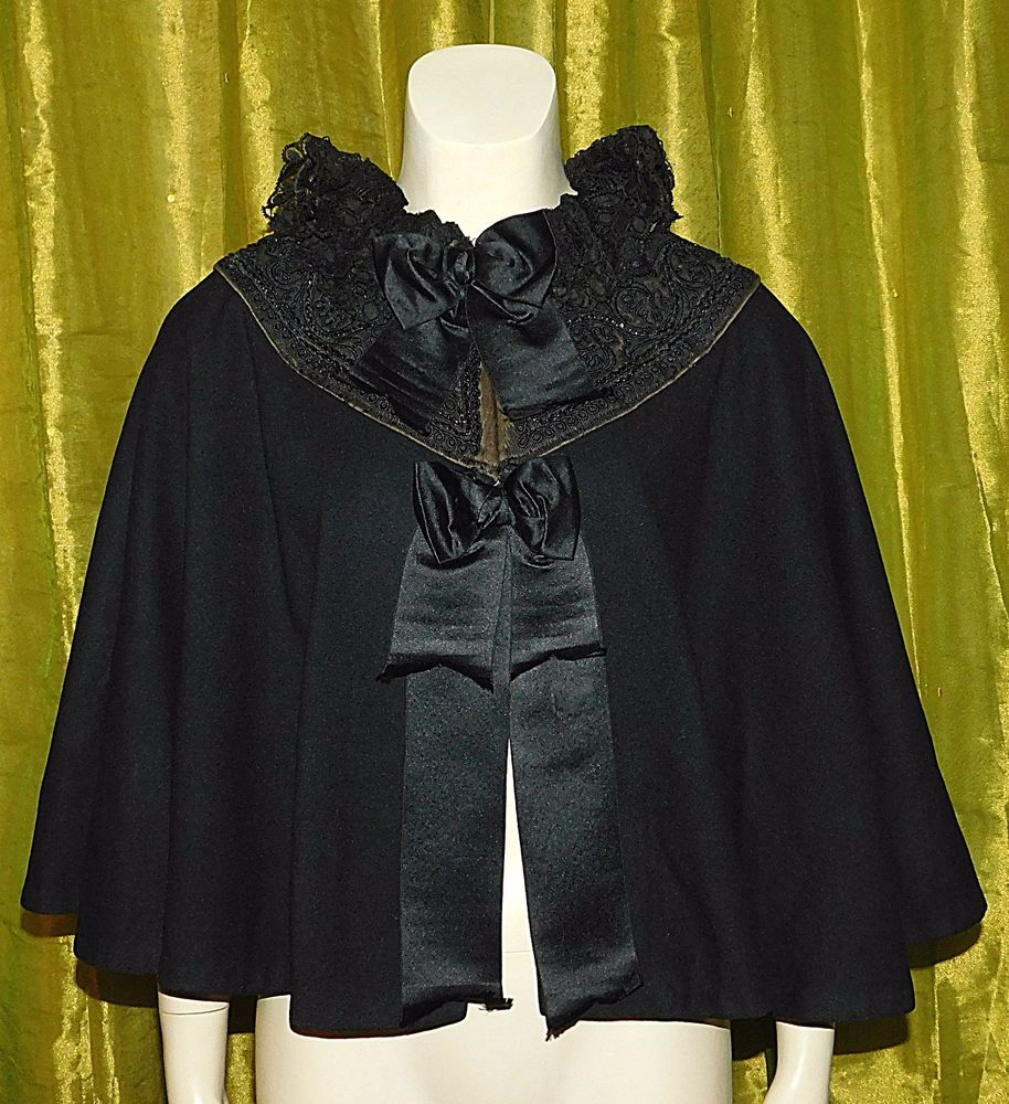 antique victorian jet beaded soutache lace silk wool. Black Bedroom Furniture Sets. Home Design Ideas