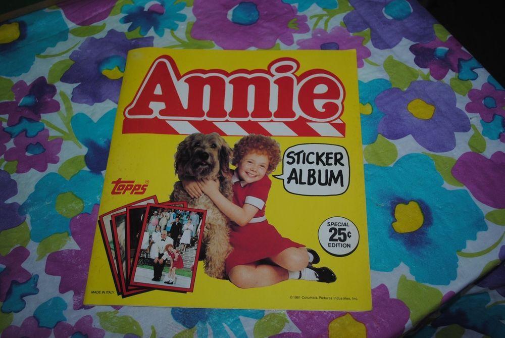 Little orphan annie movie sticker book album vintage 1981 original topps cards