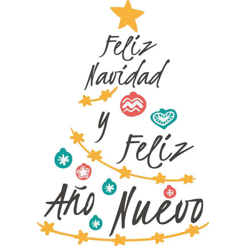Vinilos Navidad Vinilo Decorativo Arbol Navidad Moderno Y