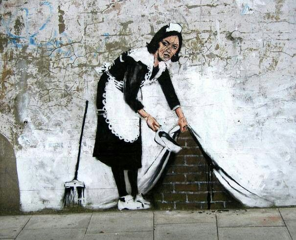 se Banksy Guardsman on wall steel fridge magnet