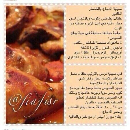 صينية دجاج بالخضار Recipes Food Chicken Bacon