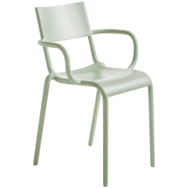 Kartell Generic A Chair   Sage Green (u20ac140) ❤ Liked On Polyvore Featuring