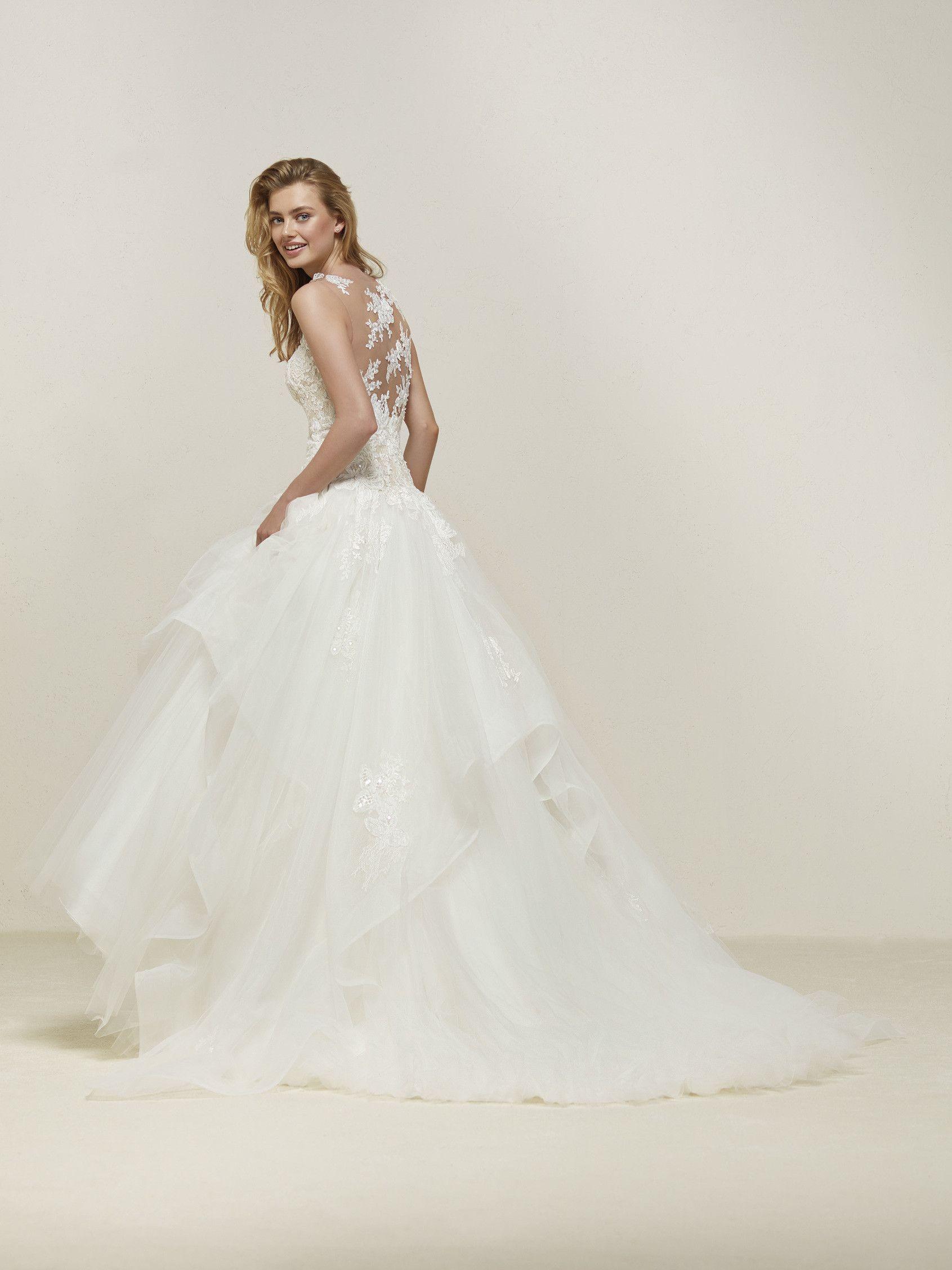 Pronovias collection drapin lace love pinterest wedding