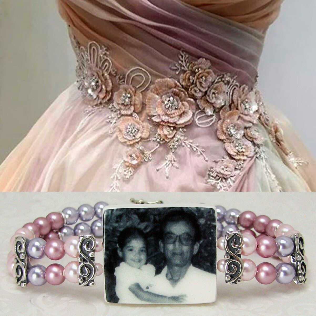 Would you like a vintage style pearl bracelet to match your wedding dress? Simply send me a photo of it. #madetoorder