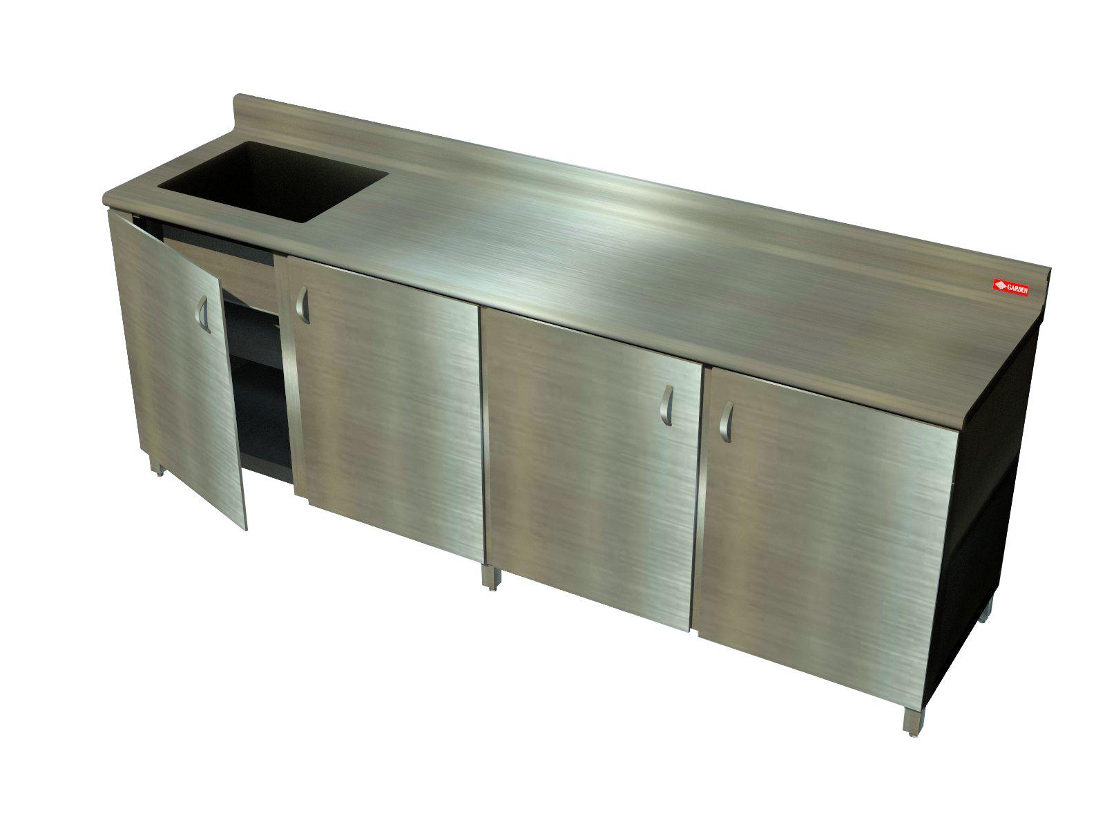 Mueble mu4pb con mesa de trabajo productos garden para uso - Muebles cocina industrial ...