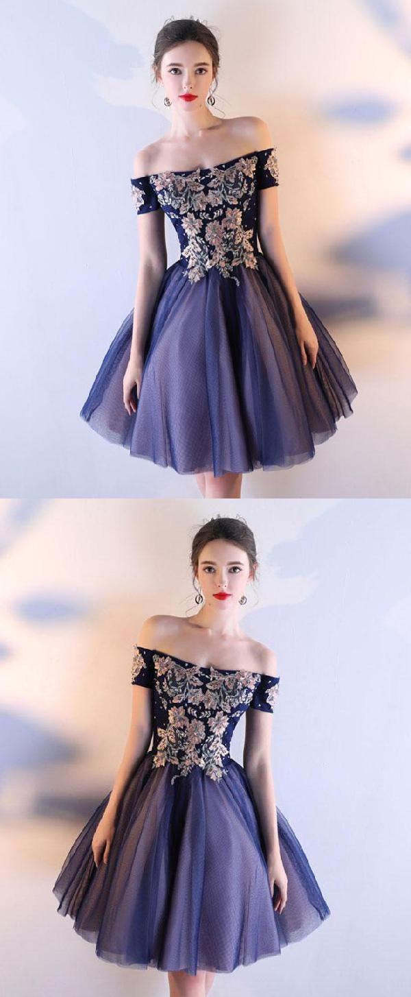 Discount Glorious Dark Blue Prom Dresses Prom Dresses Short Blue