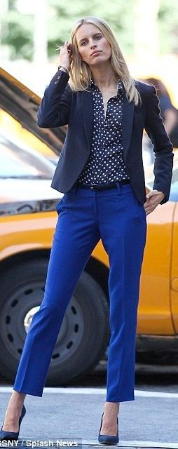 I'm liking the bright but not too bright blue pants