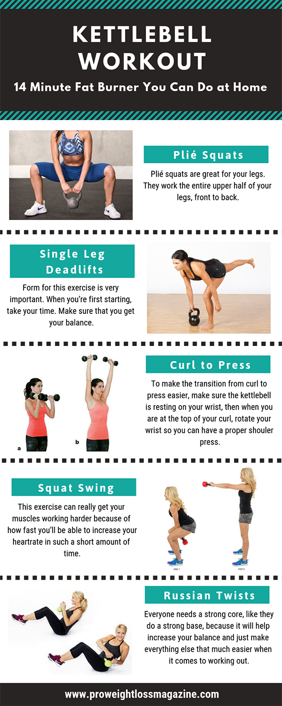 Kettlebell Workout: 14 Minute Fat Burner You Can Do at Home -   18 fitness workouts thighs ideas