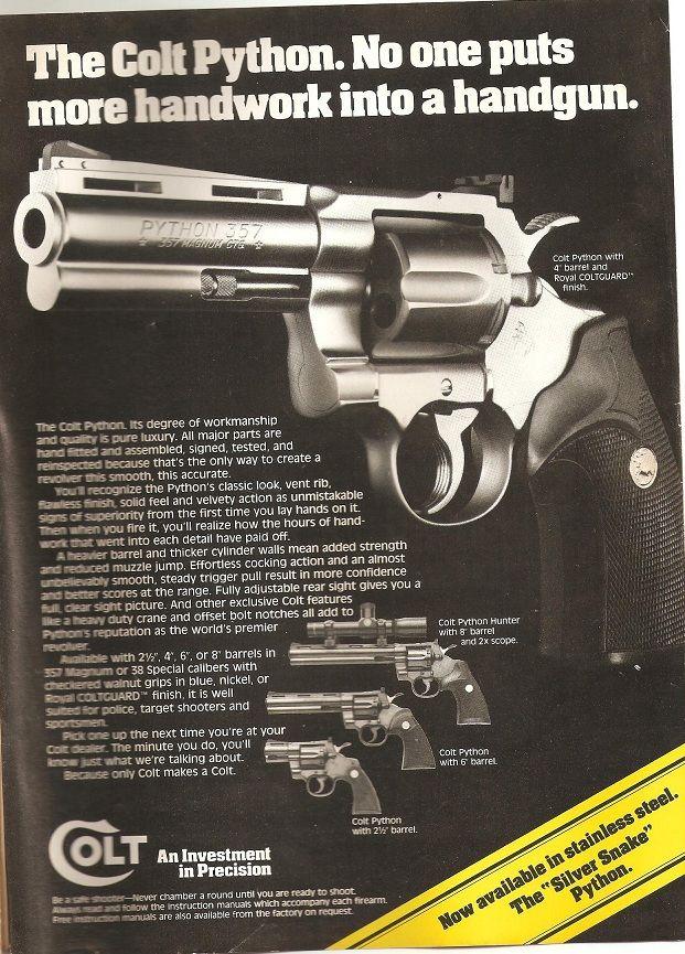 Pin by RAE Industries on colt   Colt python, Hand guns, Revolver