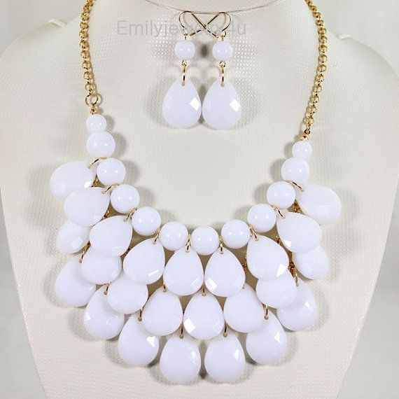 NEW Droplet Cluster Necklace Set3 Layers by Emilyjewelry4u on Etsy, $16.00