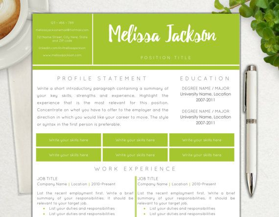 Resume Template Professional and Simple Two Page Resume Template - resume strengths